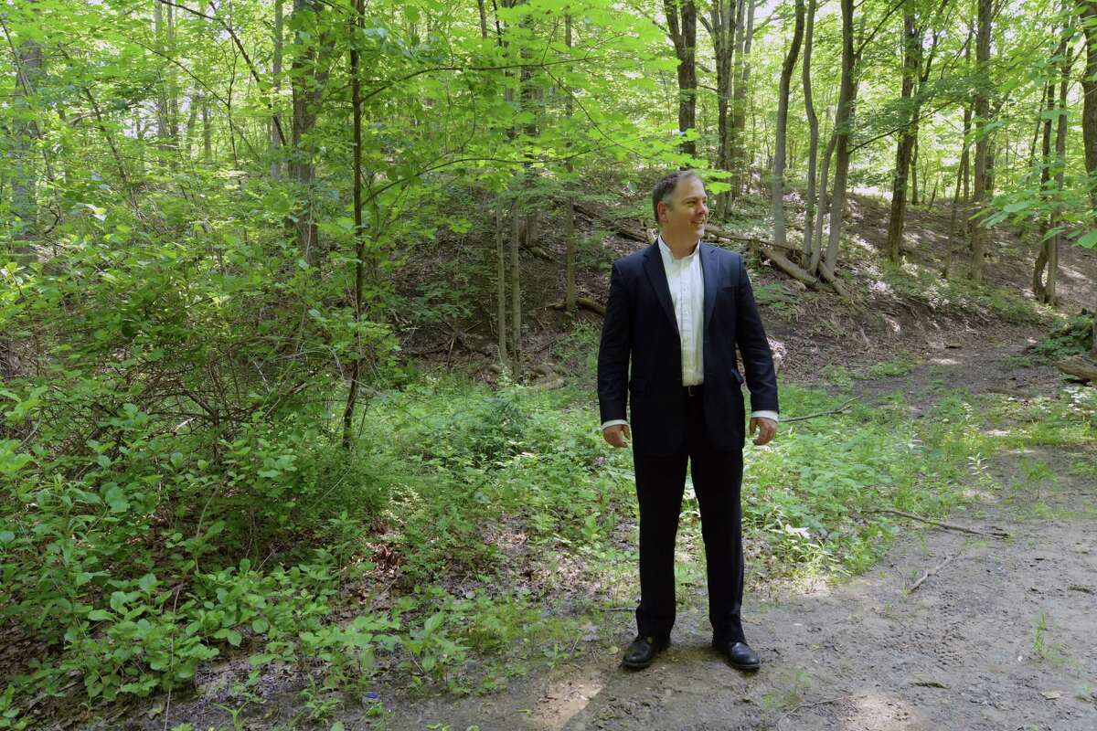 Charles Moore, director of planning and development for the City of Rensselaer, stands in Hollow Park on Tuesday, June 13, 2017, in Rensselaer, N.Y. (Paul Buckowski / Times Union)