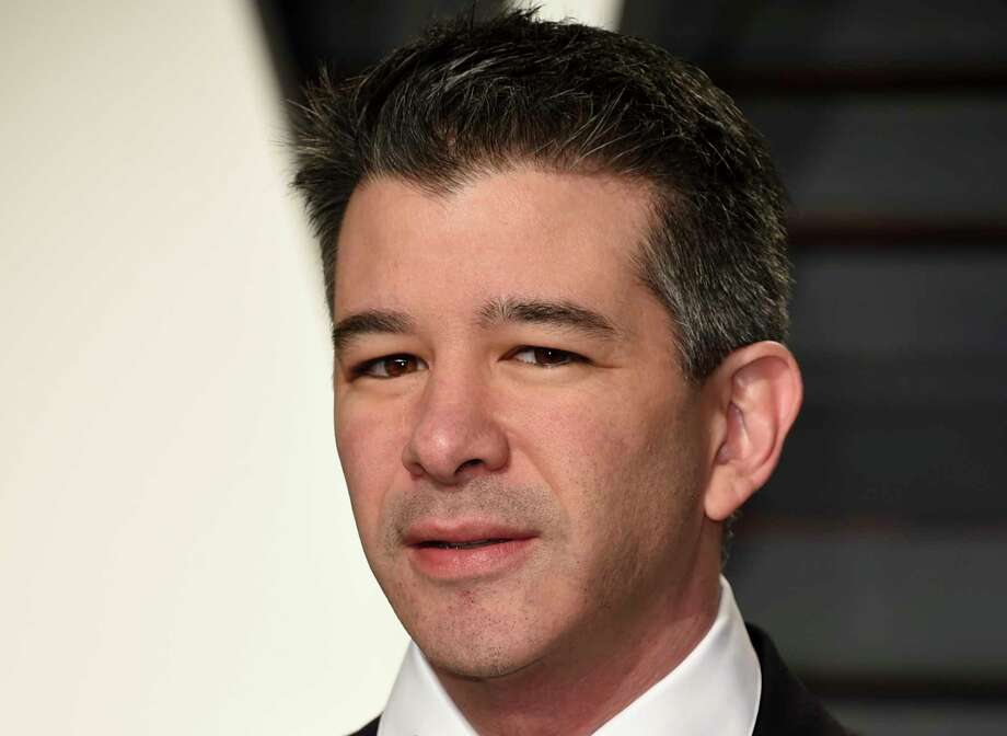 FILE - In this Sunday, Feb. 26, 2017, file photo, Uber CEO Travis Kalanick arrives at the Vanity Fair Oscar Party in Beverly Hills, Calif. Kalanick will take a leave of absence for an unspecified period and let his leadership team run the troubled ride-hailing company while he's gone. Kalanick told employees about his decision Tuesday, June 13, 2017, in a memo. (Photo by Evan Agostini/Invision/AP, File) ORG XMIT: NYBZ289 Photo: Evan Agostini / 2017 Invision