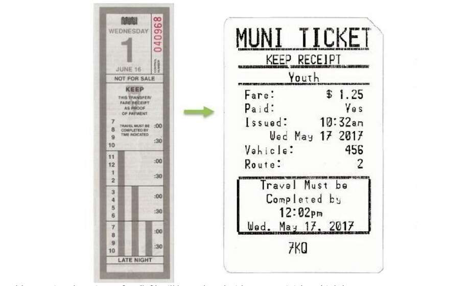 muni switches to less colorful transfers  allows late