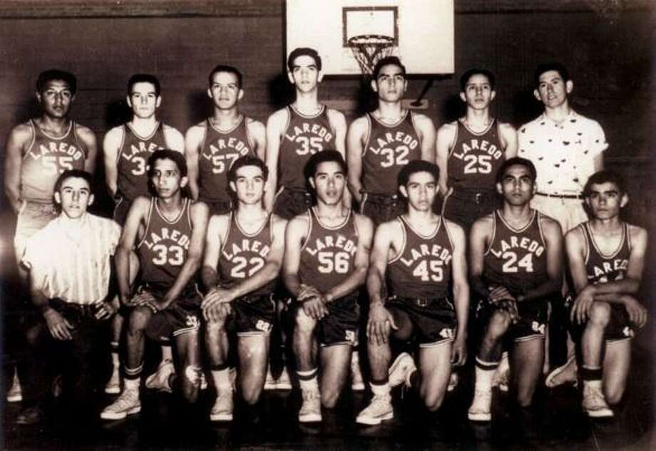 Ramiro Hernandez, No. 24, was part of the 1956 Martin basketball team that won the state title. The first and only team state championship in Laredo's history. Photo: Courtesy Of Laredo Sports Hall Of Fame
