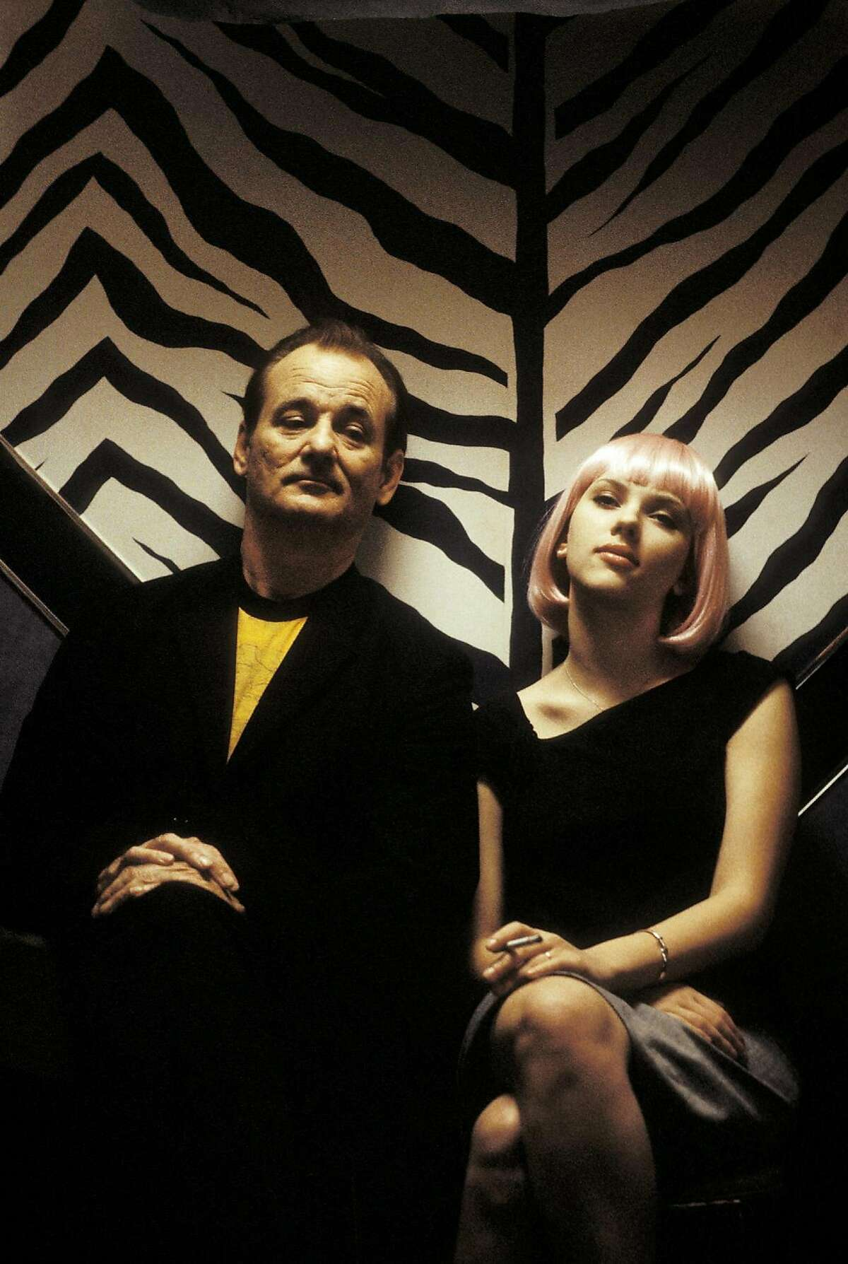 LOST12-1812 For LOST12, Datebook ; Bill Murray (left) and Scarlett Johansson (right) star in Sofia Coppola�s LOST IN TRANSLATION, a Focus Features release. Photo Credit: Yoshio Sato ; 2003 Focus Features. All Rights Reserved ; on 7/17/03 in . also ran 01/25/2004, 03/28/2004 Yoshio Sato / Focus Features Renee Zellweger (left) and Nicole Kidman worked together in the Civil War movie Cold Mountain. Director Peter Jackson (second from right) celebrates his Golden Globe win for The Lord of the Rings: The Return of the King with (from left) producer Barrie Osborne, and actors Dominic Monaghan, John Rhys-Davies and Elijah Wood. Jackson should win the Oscar. Buster Keaton: not smiling, still funny.