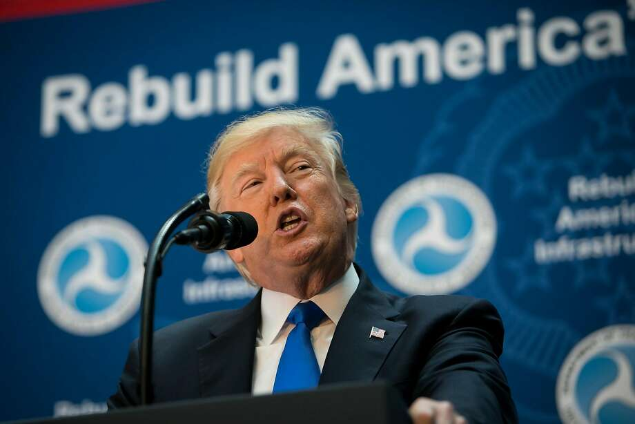 President Trump says the U.S. infrastructure is a laughingstock. Photo: AL DRAGO, NYT