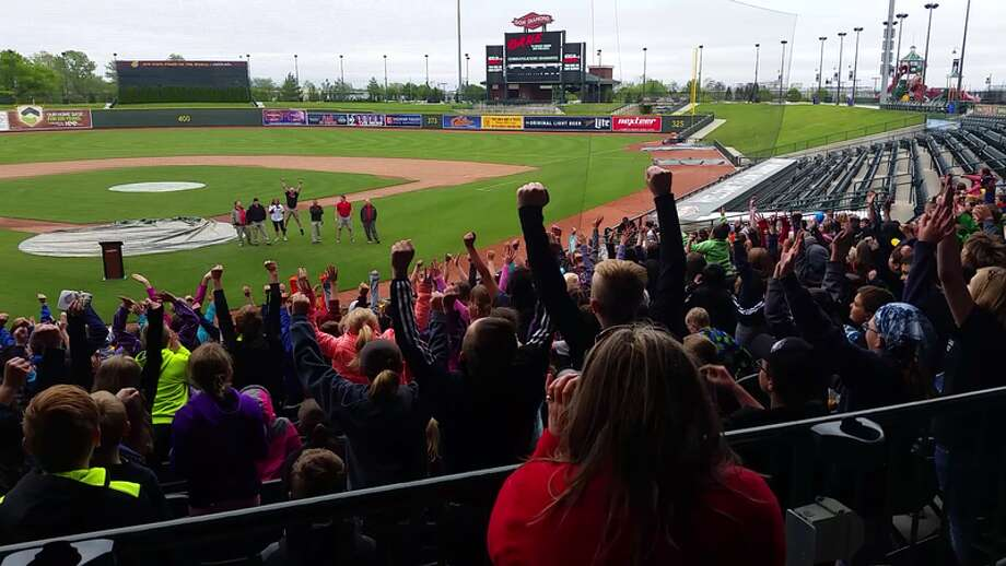 More than 900 D.A.R.E. students from schools in Midland County attended D.A.R.E. Day at Dow Diamond recently.