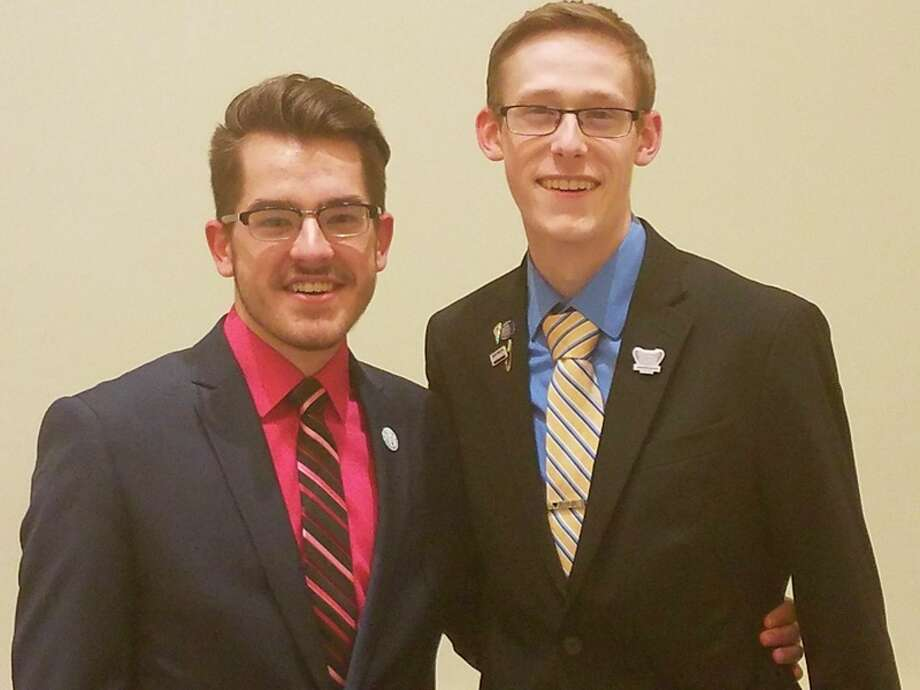 Jacob Taylor, left, and Jon Perrault, both students from Northwood University, were elected to the Business Professionals of America national officer team to lead the organization next year.