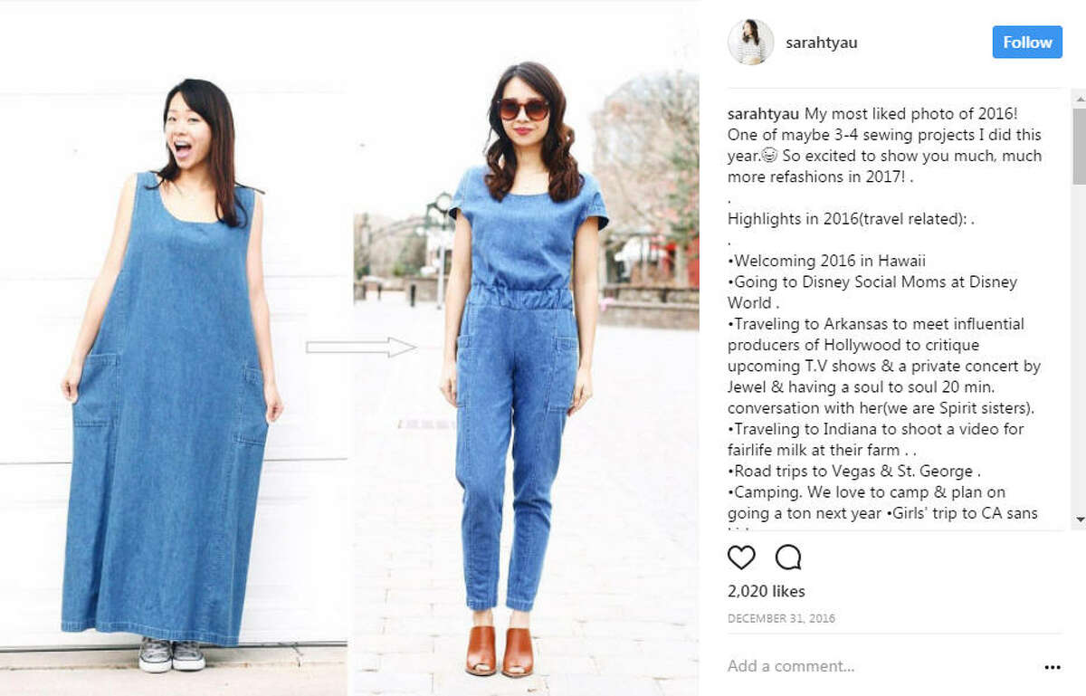 Blogger, YouTuber Sarah Tyau has become an Internet sensation for taking tacky thrift store finds and turning them into something fashionable and trendy. Photo: Sarah Tyau Instagram