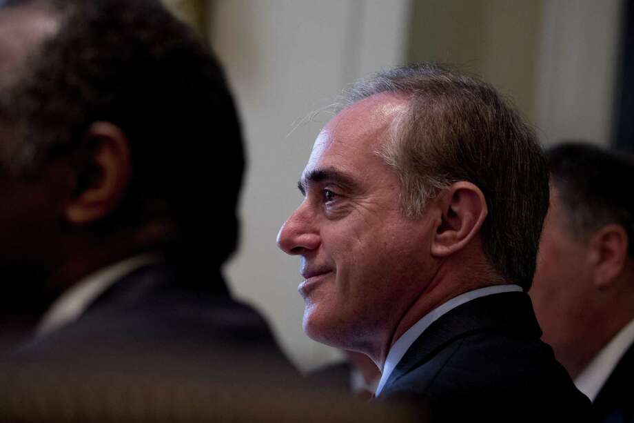 Veterans Affairs Secretary David Shulkin attends a Cabinet meeting with President Donald Trump, Monday, June 12, 2017, in the Cabinet Room of the White House in Washington. (AP Photo/Andrew Harnik) Photo: Andrew Harnik, STF / Associated Press / Copyright 2017 The Associated Press. All rights reserved.