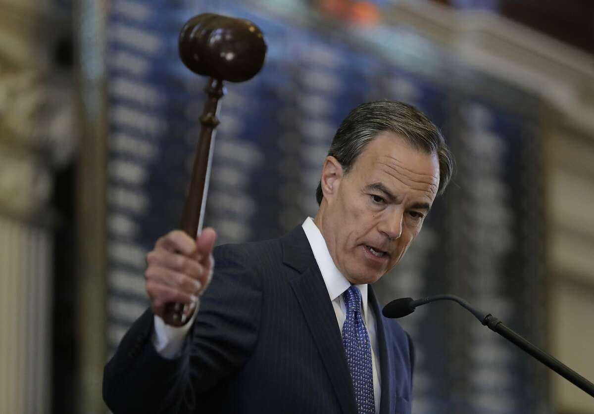Texas Speaker of the House Joe Straus, R-San Antonio, presides over the opening of the 85th Texas Legislative session in the house chambers at the Texas State Capitol, Tuesday, Jan. 10, 2017, in Austin, Texas.
