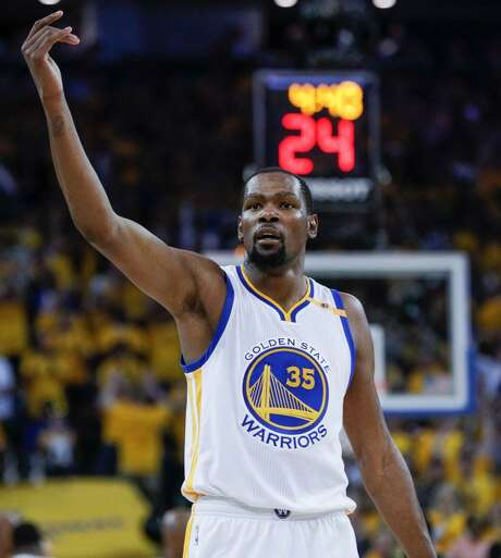 Golden State's Kevin Durant is seen in the second quarter during Game 5 of the 2017 NBA Finals at Oracle Arena on Monday, June 12, 2017 in Oakland, Calif. Photo: Wire Photo /