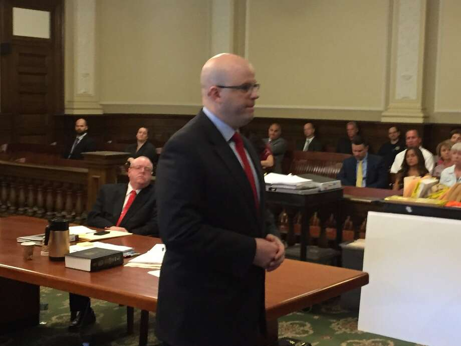 Rensselaer County District Attorney Joel Abelove talks to jurors Wednesday at the Joseph Vandenburgh's murder trial. Vandenburgh, 29, is accused of killing Tory's operations director, William Chamberlain. Photo: Kenneth C. Crowe II / Times Union