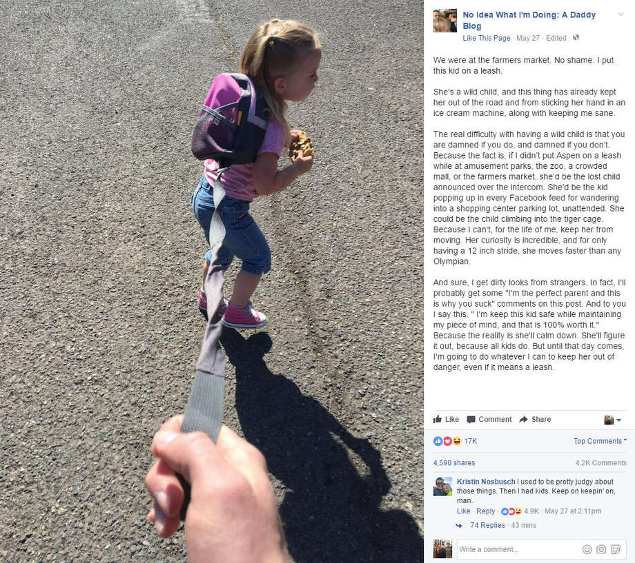 Clint Edwards posted a lengthy defense as to why he puts a leash on his daughter, Aspen, on Facebook, which quickly went viral. Continue clicking to see the parenting advice through the years we should all take with a grain of salt.Source: Facebook Photo: Facebook/No Idea What I'm Doing: A Daddy Blog