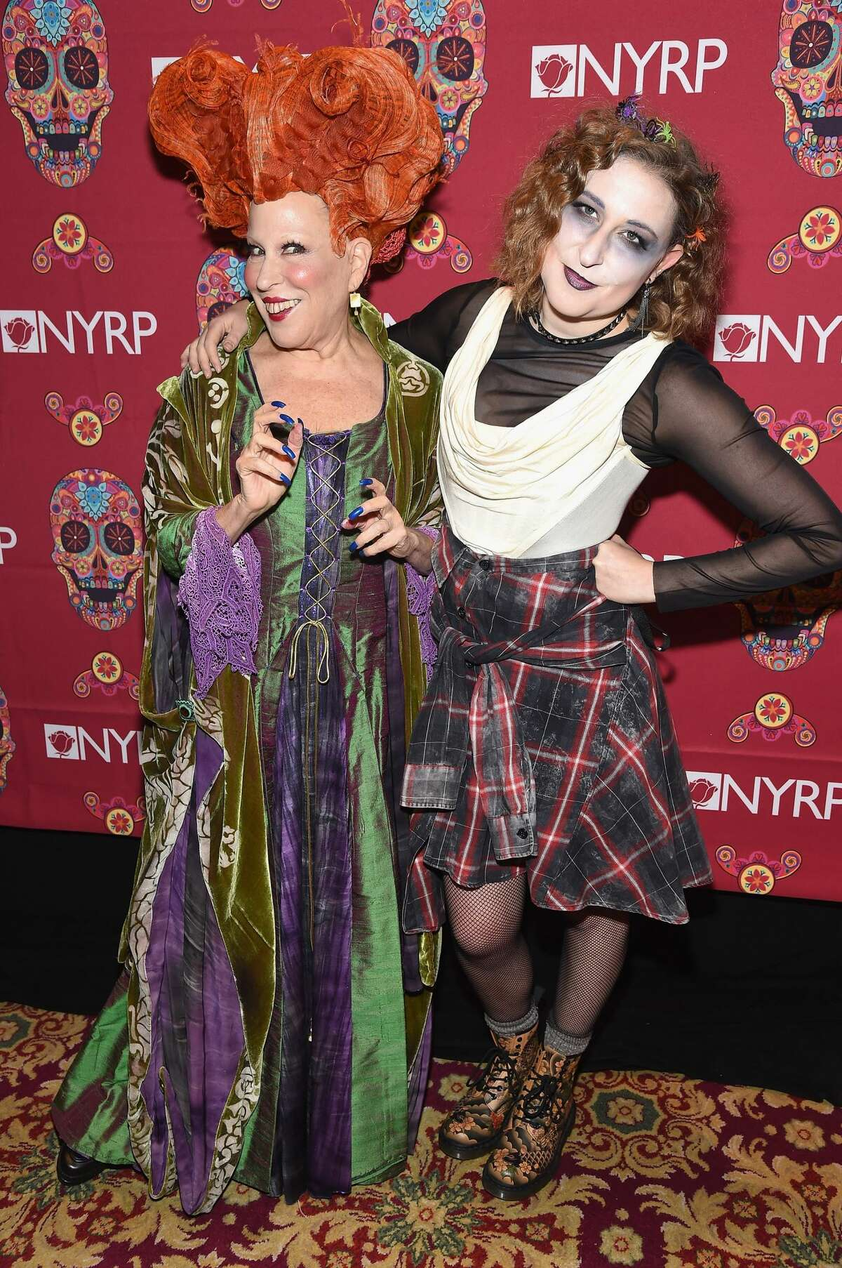 NEW YORK, NY - OCTOBER 28: Founder of The New York Restoration Project, Bette Midler and daughter, actress Sophie Von Haselberg attend the 2016 Hulaween Bash at The Waldorf=Astoria on October 28, 2016 in New York City. (Photo by Gary Gershoff/WireImage)