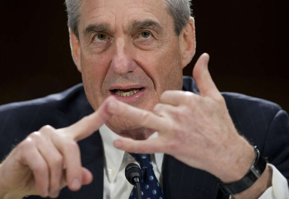 (FILES) This file photo taken on June 19, 2013, shows then Federal Bureau of Investigation (FBI) Director Robert Mueller testifying before the US Senate Judiciary Committee on oversight on Capitol Hill in Washington, DC. The special counsel overseeing the investigation into Russia's role in the 2016 election is interviewing senior intelligence officials as part of a widening probe that now includes an examination of whether President Donald Trump attempted to obstruct justice, officials said. Photo: SAUL LOEB, AFP/Getty Images