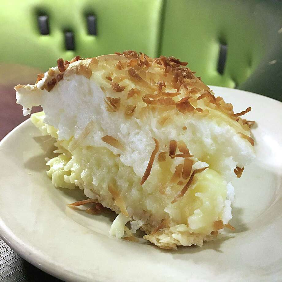 Coconut cream pie from Earl Abel's, one of the menu standards that will survive the move to Broadway. Photo: Mike Sutter /San Antonio Express-News