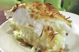 Coconut cream pie from Earl Abel's, one of the menu standards that will survive the move to Broadway.