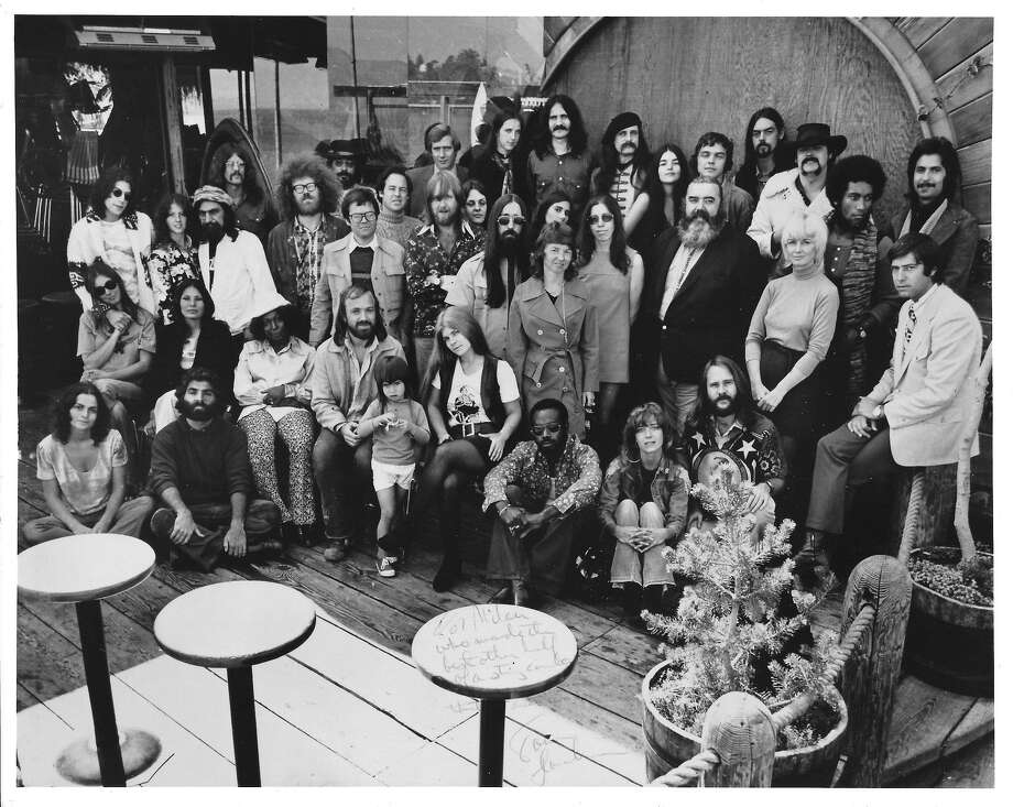 The staff of radio station KSAN in 1972. Many were part of the hippie free-form music scene. Photo: TK