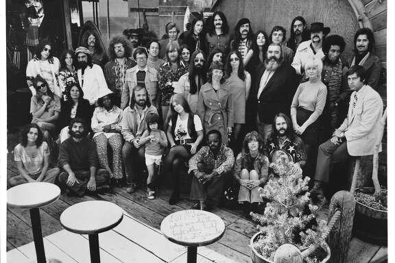 The staff of radio station KSAN in 1972