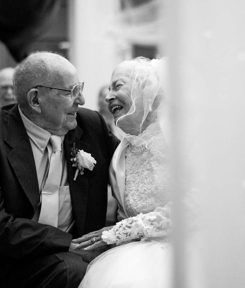 On June 10, 2017, Lubbock residents Tom and Marie Macon celebrated their 75th wedding anniversary with the wedding ceremony they never had. Photo: Heartsinmotionphoto.com