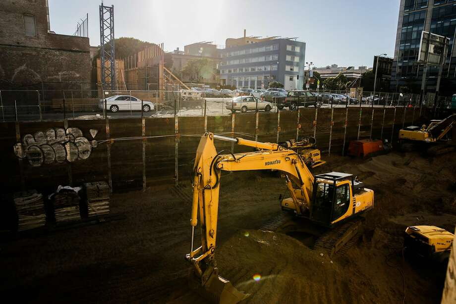 Construction on Market Street between Van Ness and 12th is a precursor to plenty of other proposed changes on the block. Photo: Gabrielle Lurie, The Chronicle