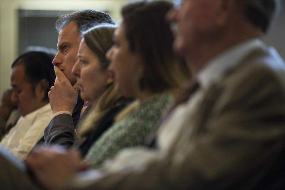 Paul Sanett of Entertainment Cruises listens to conversation about the river barge contract during a City Council meeting during at the Municipal Plaza building on May 25, 2017. Photo: Ray Whitehouse /For The San Antonio Express-News