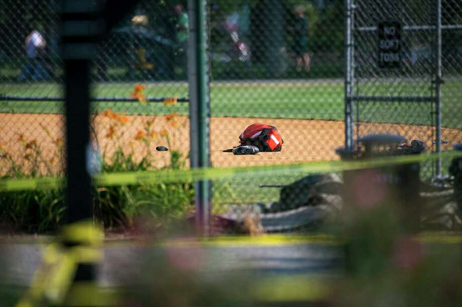 The June 14 shooting at Eugene Simpson Stadium Park, in Alexandria, Va., where members of a congressional baseball team regularly practice, left several injured, including House Majority Whip Steve Scalise (R-La.). Photo: AL DRAGO, STF / NYTNS