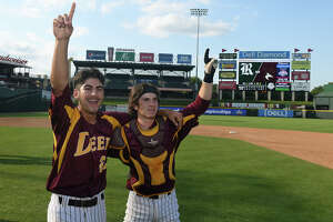 The senior battery of pitcher Adrian Gonzales, left, and catcher Reece Moon, helped Deer Park bring home the school's first baseball state championship this year.