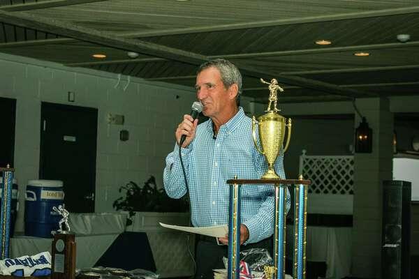 Darien coach Jeff Brameier addressed his team at their end-of-year banquet Wednesday night. Darien was ranked No. 1 in both the Under Armour/Inside Lacrosse and USA Today national polls.