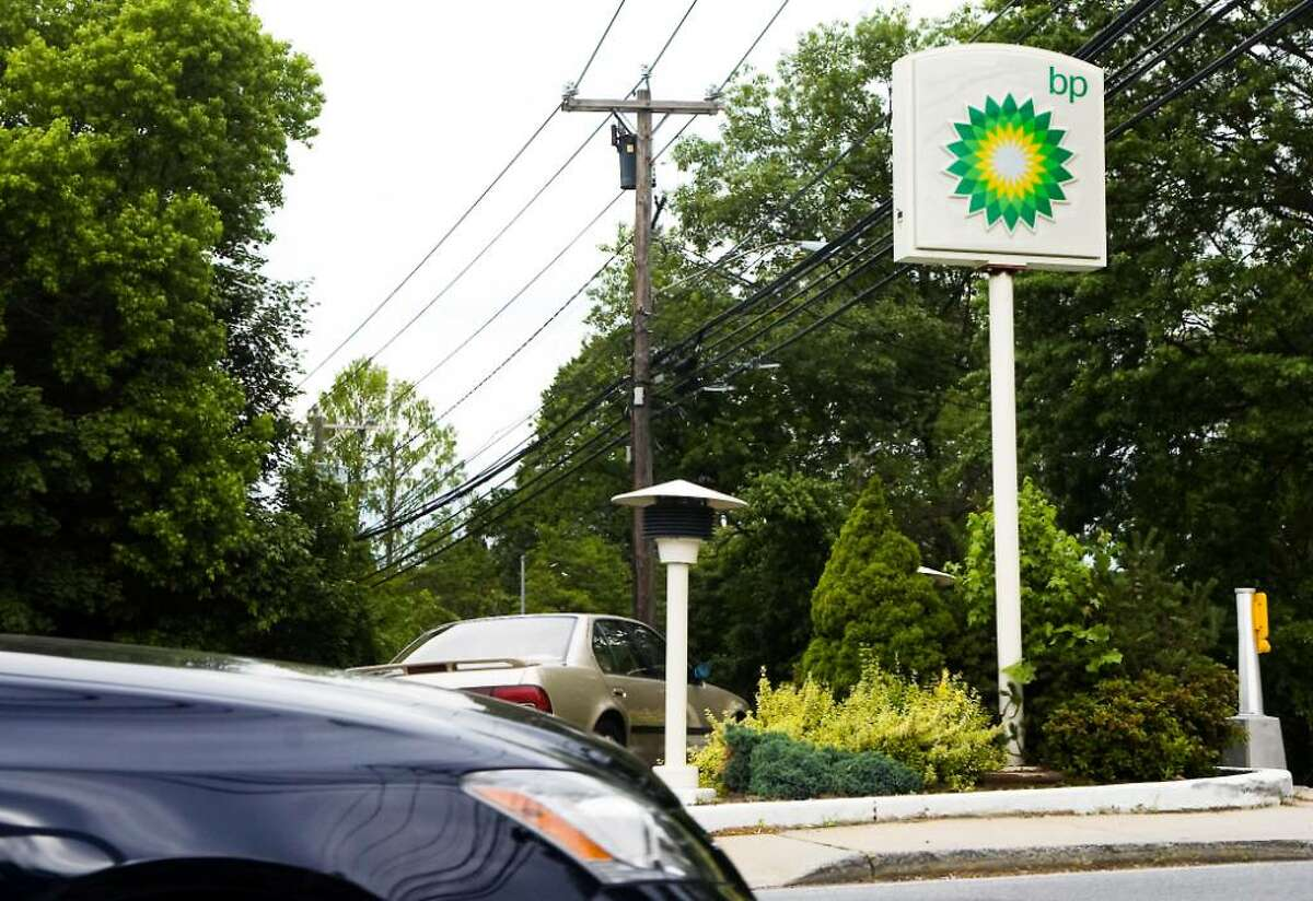 BP station on Noroton Ave. in Darien, Conn. on Tuesday June 8, 2010.