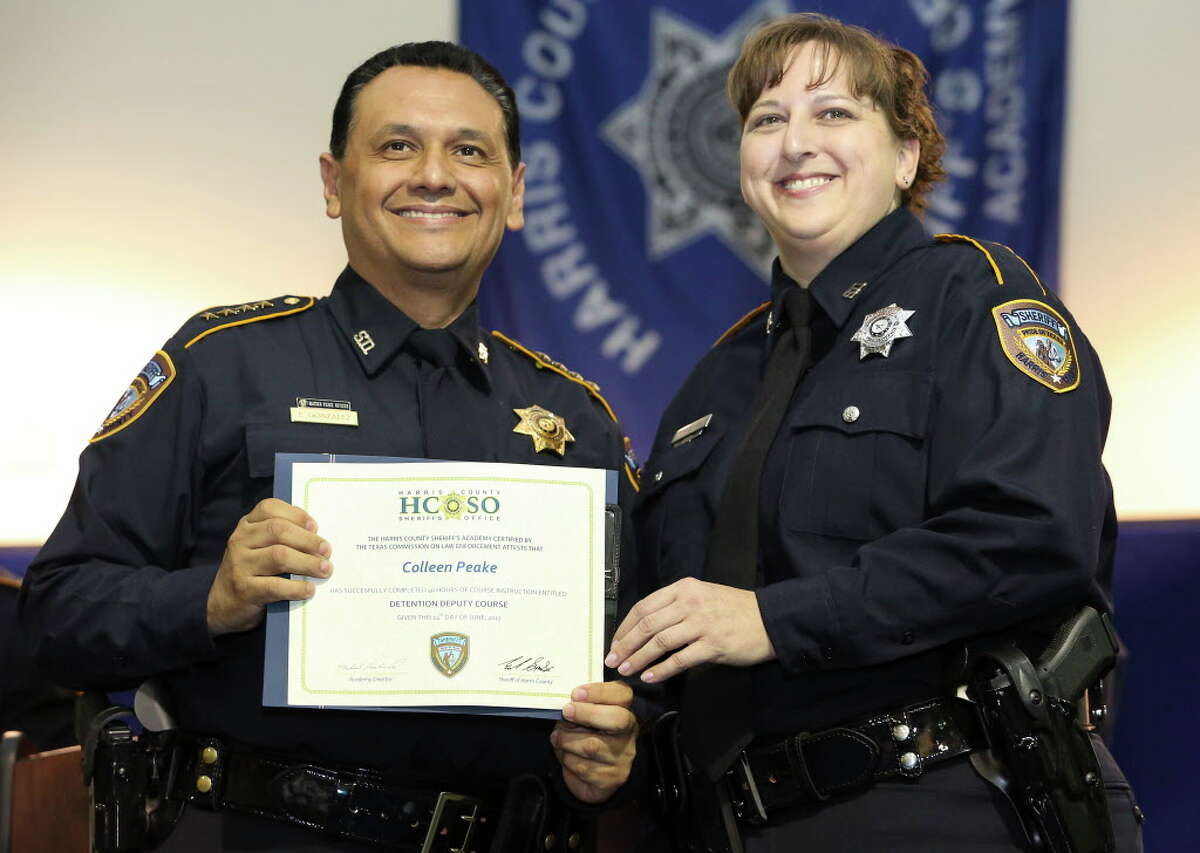Sheriff Ed Gonzalez has reinstated the detention deputy program and this class had 63 graduating deputies.For Colleen Peake, graduation to a job as a certified peace officer means she can pursue her goal of someday working as an investigator.