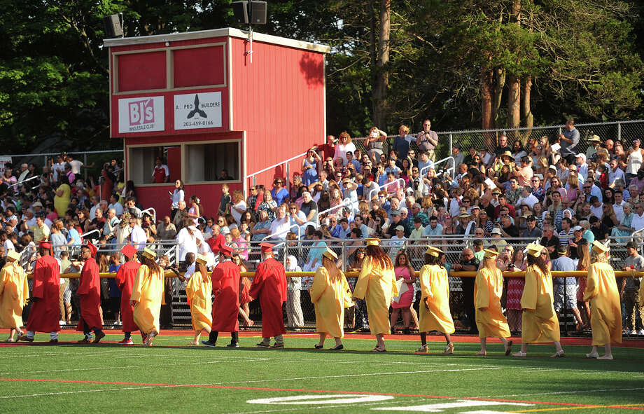 The Class of 2017 Stratford High School graduation at Penders Field in Stratford, Conn on June 14, 2017. Photo: Brian A. Pounds, Hearst Connecticut Media / Connecticut Post