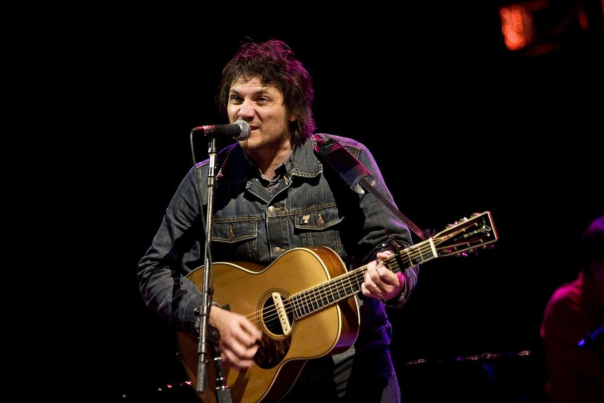 Jeff Tweedy along with other members of the band Wilco perform at the 22nd annual Bridge School Benefit Concert at the Shoreline Amphitheatre October 25, 2008 in Mountain View, California. Photograph by David Paul Morris / The Chronicle
