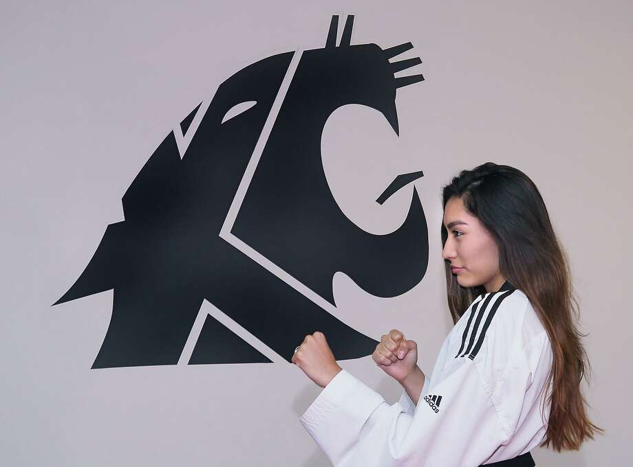 Salma Castellanos of KuGar Taekwondo is now ranked No. 41 in the world after placing fifth at the 2017 Luxembourg Open G1 Tournament. She split her two fights losing the second in overtime. Photo: Cuate Santos /Laredo Morning Times / Laredo Morning Times