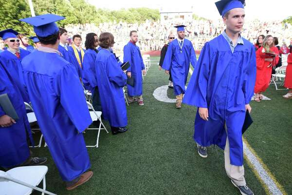 The Joseph A. Foran High School commencement ceremony was held at the school in Milford, Conn. on Wednesday, June 14, 2017.