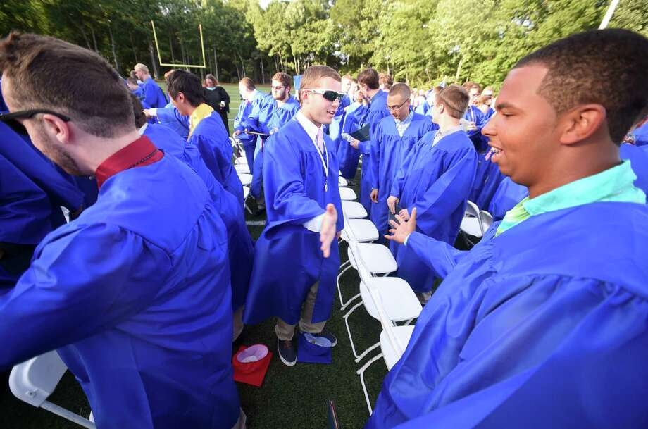 The Joseph A. Foran High School commencement ceremony was held at the school in Milford, Conn. on Wednesday, June 14, 2017. Photo: Arnold Gold, Hearst Connecticut Media / Connecticut Post