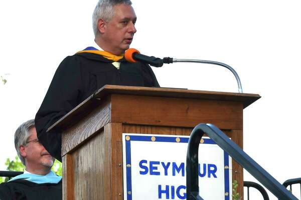 Seymour High School celebrates its class of 2017 during commencement on Wednesday, June 14, 2017.