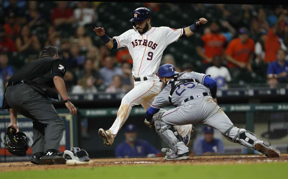 The Astros-Rangers series originally scheduled for Minute Maid Park from Tuesday-Thursday will be played in St. Petersburg, Fla., instead. Photo: Karen Warren/Houston Chronicle
