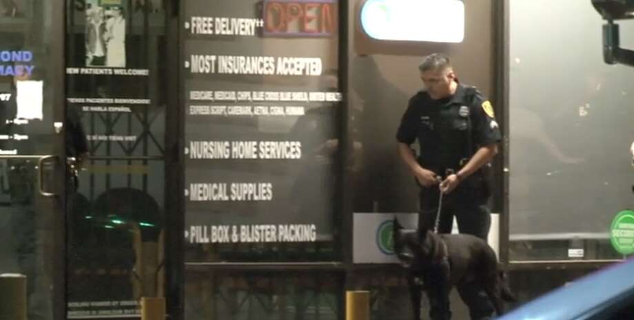 Police are investigating a west Houston pharmacy break-in early Thursday during which the burglars failed to steal any narcotics. (Metro Video) Photo: Metro Video
