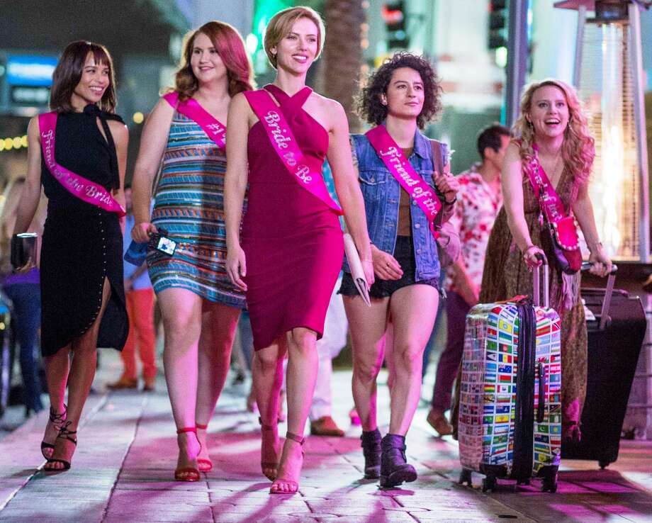 """Rough Night"":A bachelorette party goes sideways when a stripper is accidentally killed. What's the right move? Probably to call the authorities. But the coked up crew tries a different approach. Several of them. To reveal the modes of corpse abuse would be to offer spoilers."