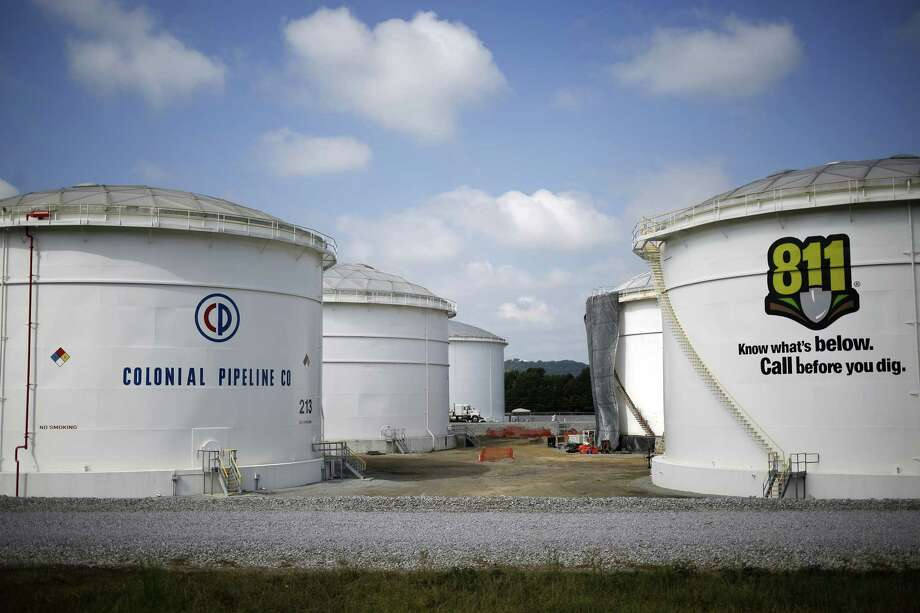 Storage tanks stand at the Colonial Pipeline Co. Pelham junction and tank farm in Pelham, Alabama, U.S., on Monday, Sept. 19, 2016. Customers buying gasoline at grocery stores and other independent retailers may pay more than those shopping at name-brand outlets after the biggest gasoline pipeline in the U.S. sprung a leak in Alabama on Sept. 9. Colonial Pipeline Co. has proposed restarting the line on Sept. 22, according to the Alabama Emergency Management Agency. Photographer: Luke Sharrett/Bloomberg Photo: Bloomberg / © 2016 Bloomberg Finance LP