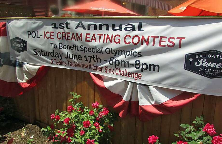 "Six teams will take on the challenge of polishing off the ""Kitchen Sink"" sundae at Saugatuck Sweets, all to raise money for Connecticut Special Olympics. The contest will take place Saturday at 6 p.m. Fairfield,CT. 6/12/17 Photo: Contributed / Contributed Photo / Fairfield Citizen"