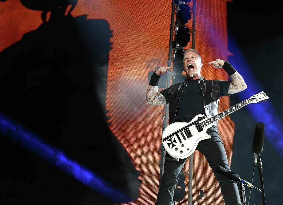 Singer and guitarist Hetfield was the center of attention when Metallica returned to San Antonio. Photo: Kin Man Hui /San Antonio Express-News / ©2017 San Antonio Express-News
