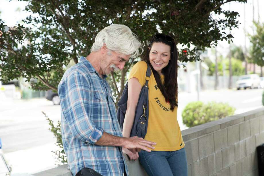 "A cowboy actor in his 70s (Sam Elliott) romances a much younger stand-up comic (Laura Prepon) in ""The Hero."" Photo: The Orchard / The Orchard"
