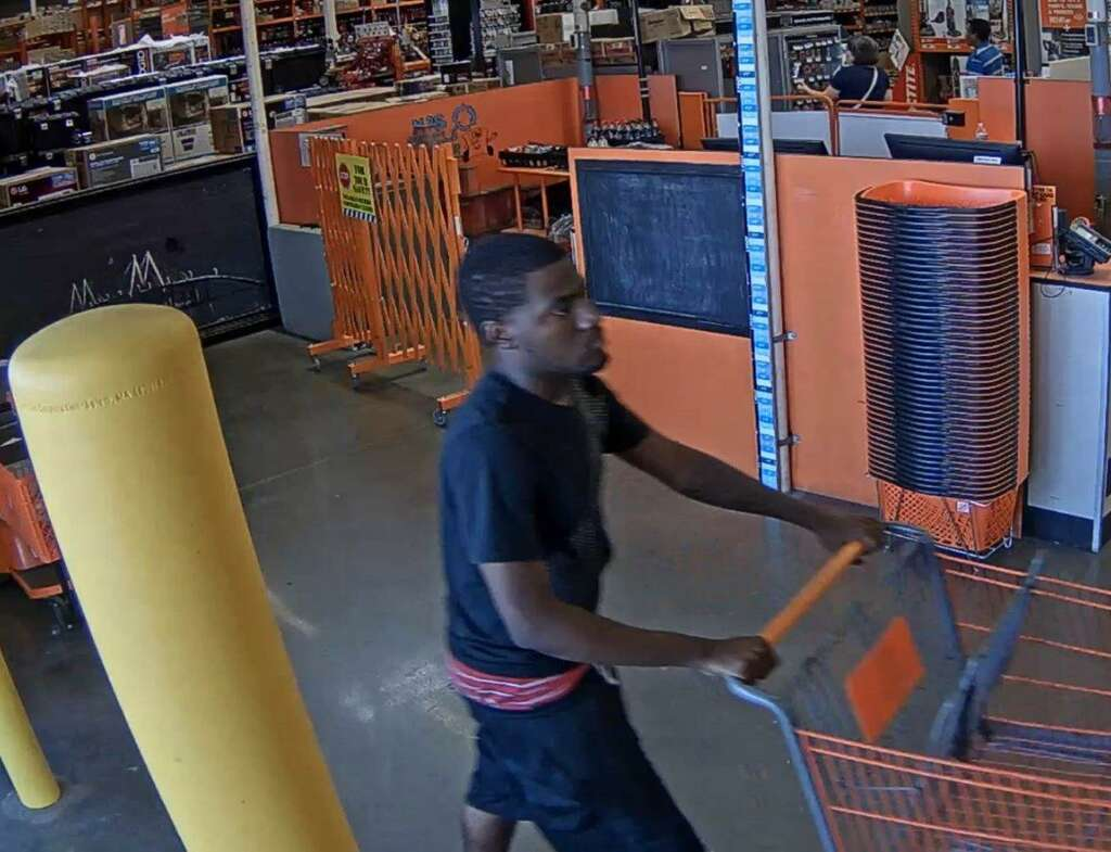 A Suspect In Home Depot Theft Case Baytown On June 6 2017