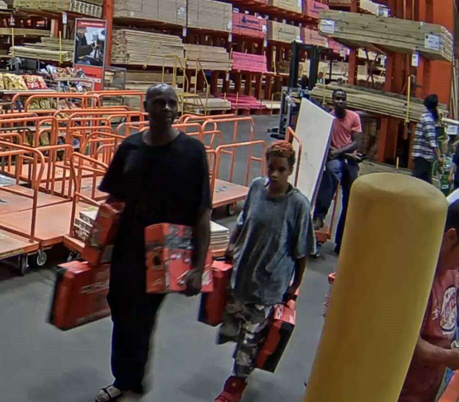 Two Suspects In A Home Depot Theft Case Baytown On June 8 2017