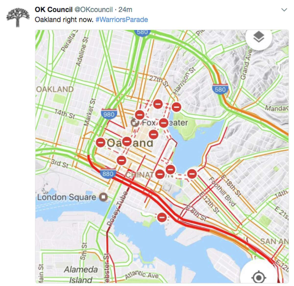 With a million people expected to pour into Oakland to watch the Golden State Warriors NBA Championship parade Thursday, traffic and transportation in the Bay Area is a nightmare.