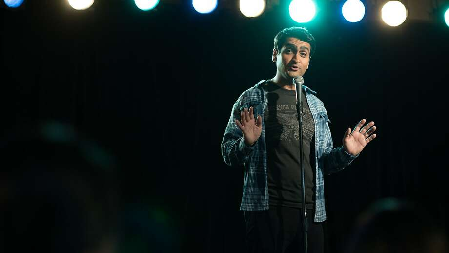 """KumailNanjiani does stand up in a scene from the film """"The Big Sick."""" Photo: Lionsgate"""