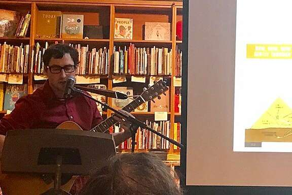 Michael Hearst sings his book's table of contents