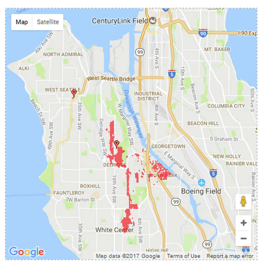 West Seattle Power Outage Hits 2 000 Houston Chronicle