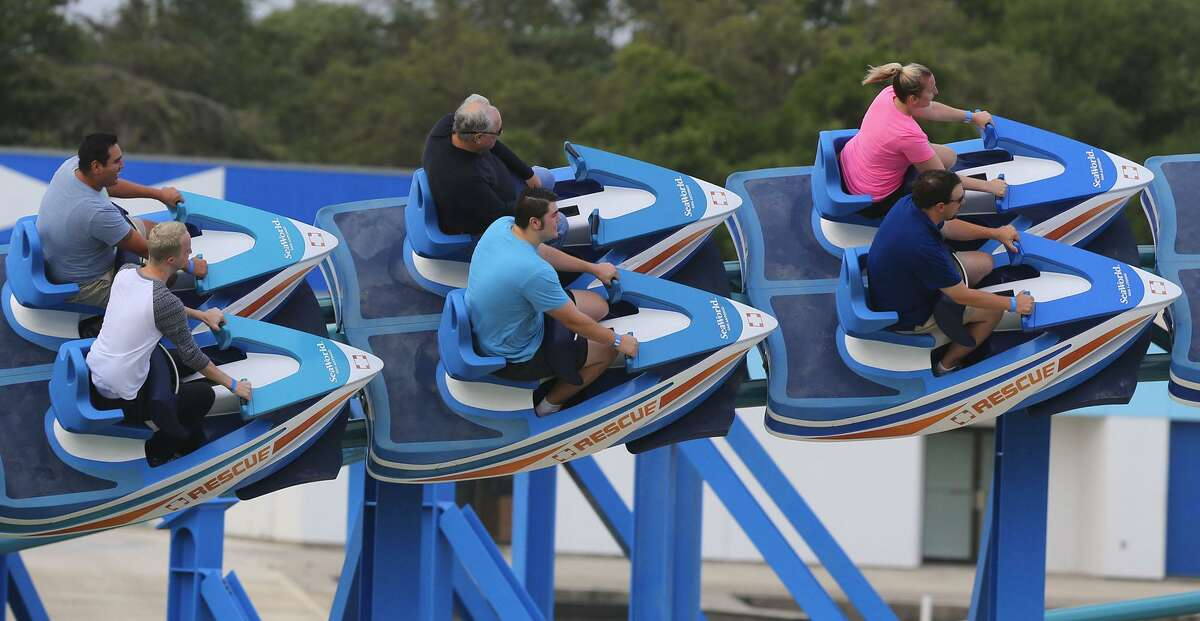 SeaWorld added the Wave Breaker (above) in 2017. The newest attractions - two rides and a turtle exhibit are expected to open in May. Construction is estimated to cost $2.9 million.