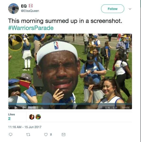 Warriors Parade Spawns Championship Caliber Memes Sfgate Com