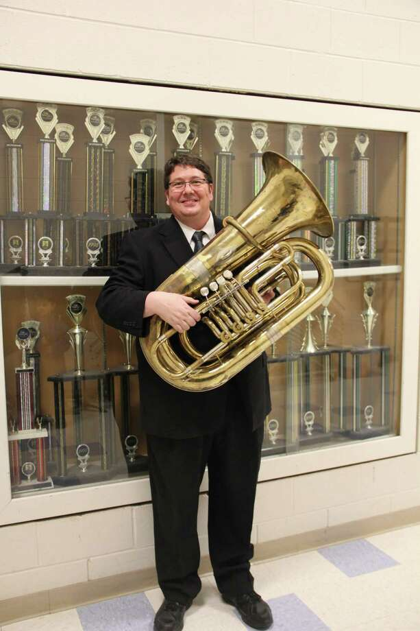 Bedford Middle School Band leader Lou Kitchner . Photo: Contributed Photo / Westport News